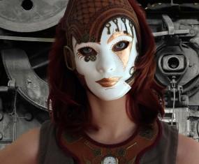 Steampunk mask comes alive. Argh.