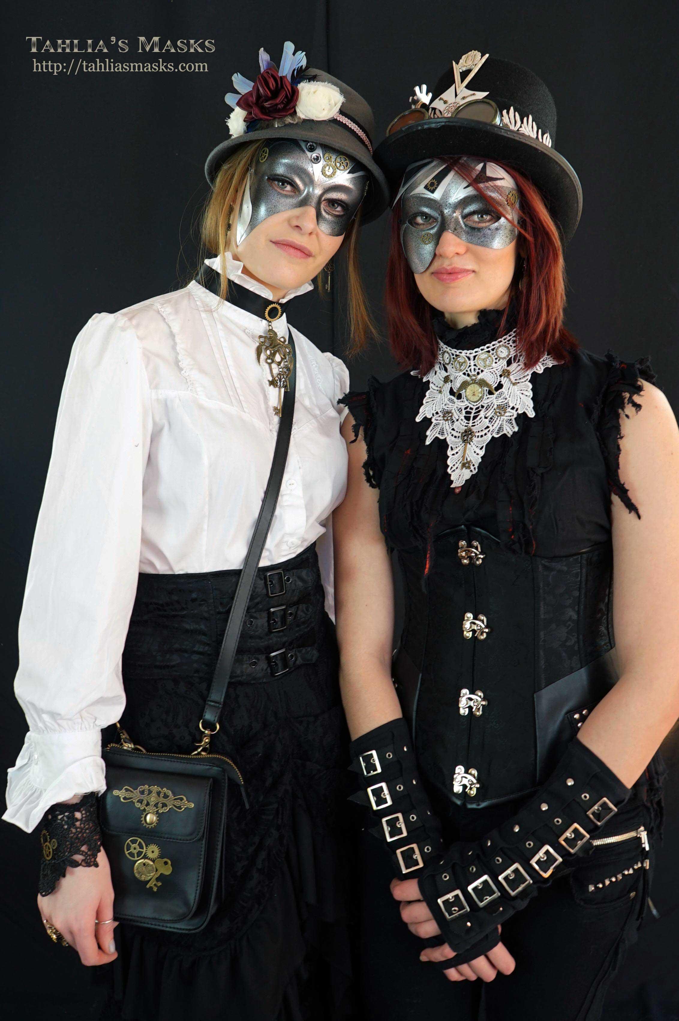 DSC02711_web  sc 1 st  Tahliau0027s Masks & Steampunk masquerade masks with steampunk costumes - Tahliau0027s Masks