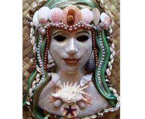 Extraordinary mermaid Venetian wall mask available now.