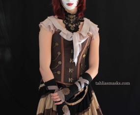 Meet Miss Ophelia bates-Harvard: full faced Steampunk masquerade mask
