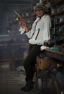 Practical Steampunk – soft cream and brown steampunk pirate shirt
