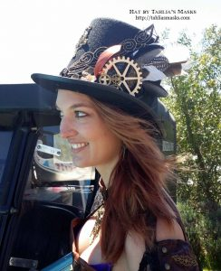 My steampunk top hats at the Goulburn Steampunk Fair